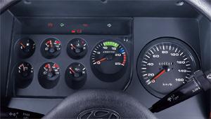 nội thất xe Hyundai HD250 gắn cẩu