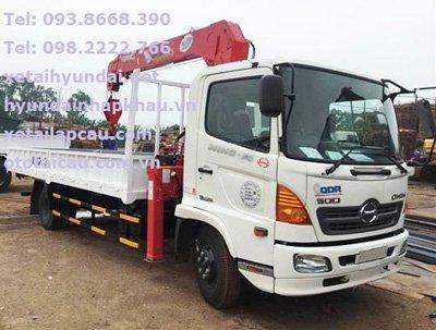 Xe tải Hino FC lắp cẩu Unic 370